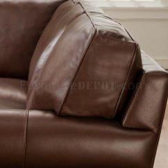 Classic Italian Leather Sofa Cassina Sofas Cocoa Brown Top Grain Traditional