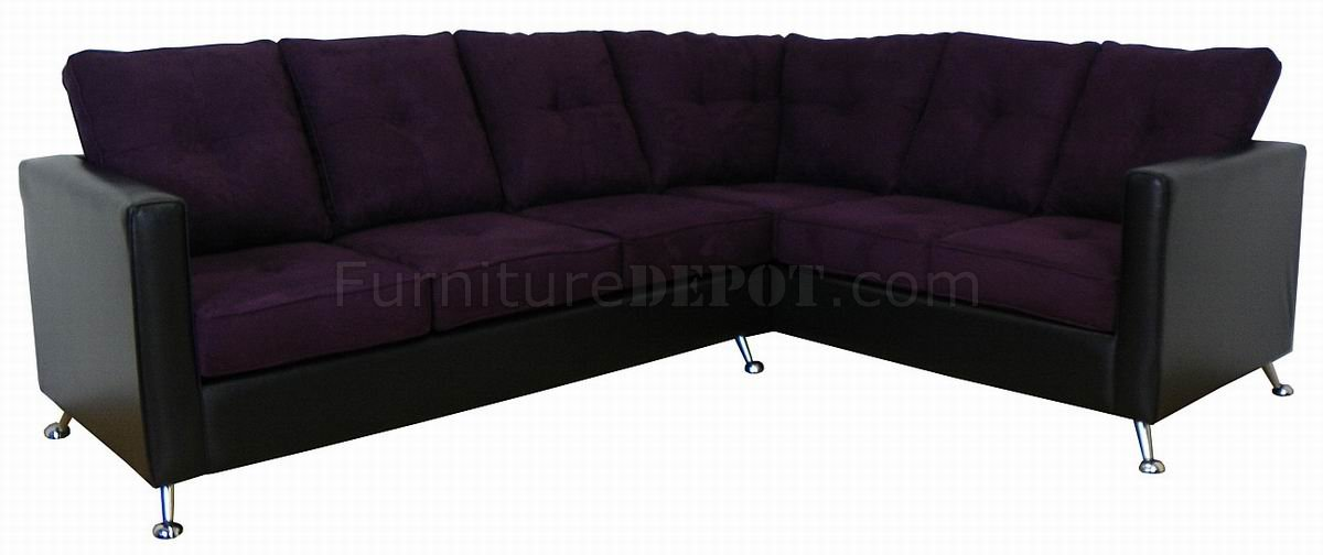 eggplant sofa cindy crawford mackenzie sectional fabric black vinyl modern