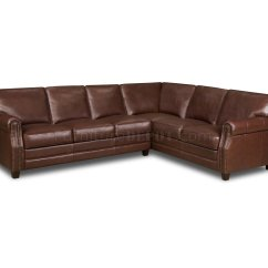 Traditional Leather Sectional Sofas Easy To Clean Fabric Sofa Cocoa Brown Top Grain Italian