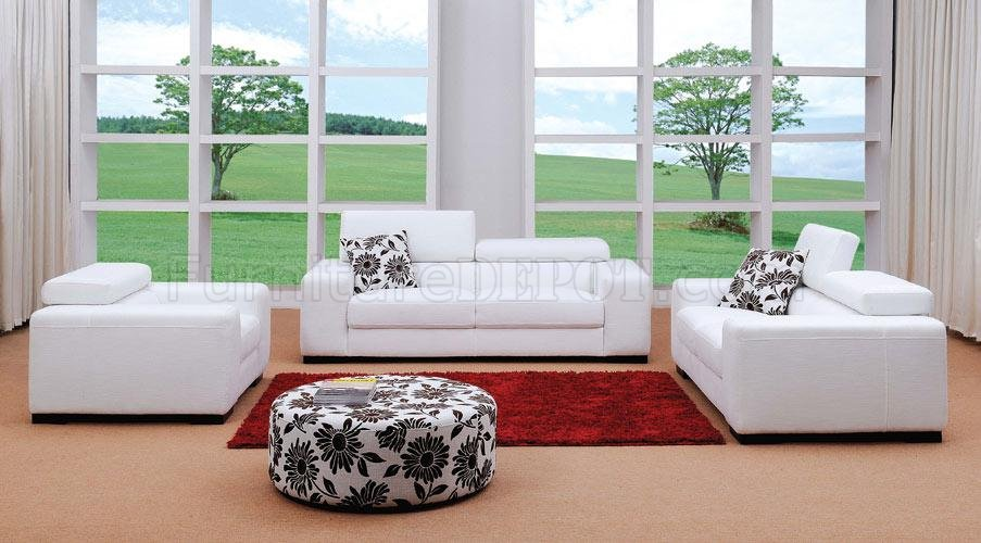 modern living room sets luxury ideas uk fabric set miami white 3pc w ottoman