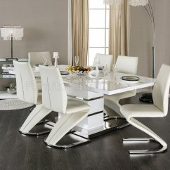 White Fabric Dining Chairs Cheap Farmhouse Table And Midvale Cm3650t In Finish W/options