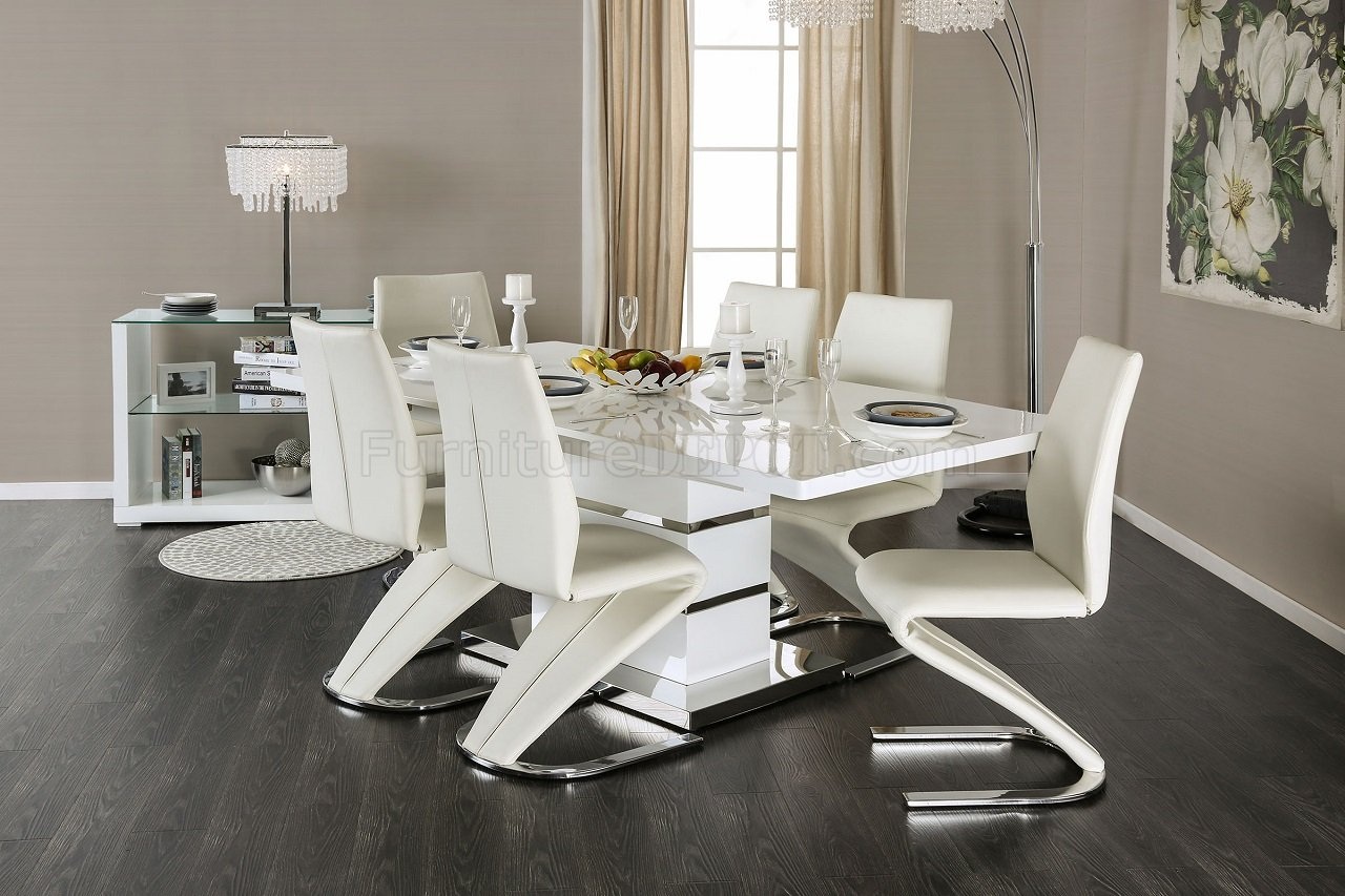 modern leather living room set images designs midvale cm3650t dining table in white finish w/options