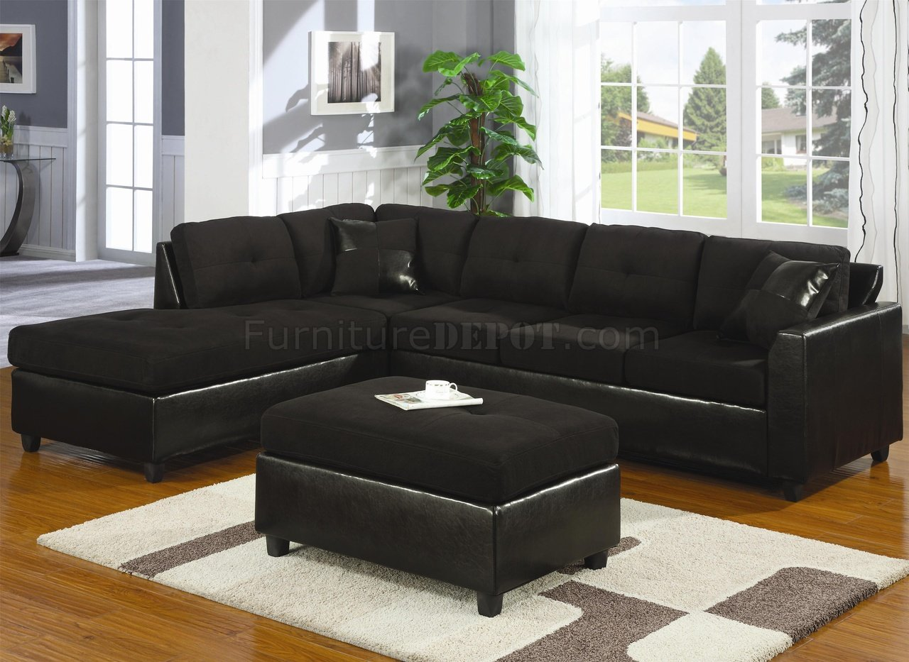 buchannan faux leather sectional sofa with reversible chaise chestnut mickey mouse flip out australia black microfiber