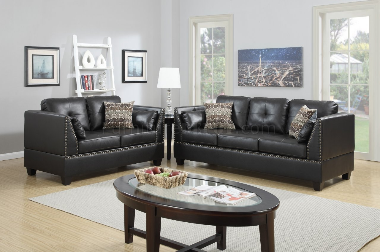 espresso bonded leather reclining sofa loveseat set sofas sears home f6915 and in by boss
