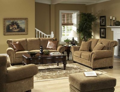 chenille sofa beds tufted nailhead sectional floral stylish living room & loveseat set