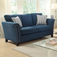 Campbell Sofa CM6095TL in Dark Teal Fabric w/Options