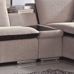 Aria Fabric Modern Sectional Sofa Set Throw Blankets Beige And Chocolate