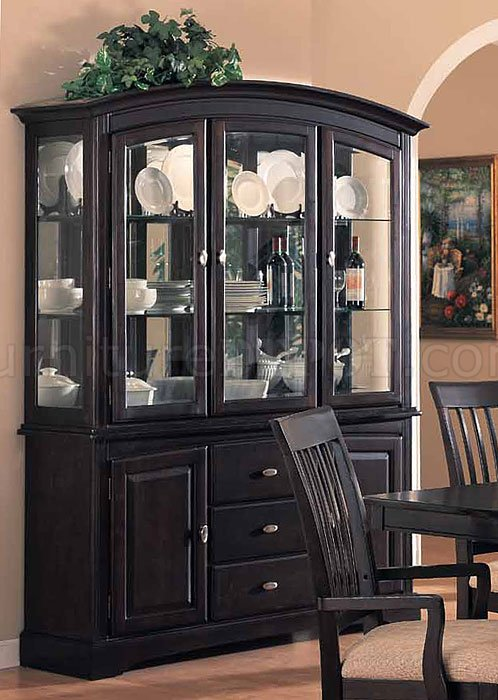 Cappuccino Finish Classic Arched Buffet with Hutch