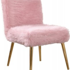 Pink Leather Sofas Sofa Classic Modern Tiffany Accent Chair In Faux Fur By Meridian