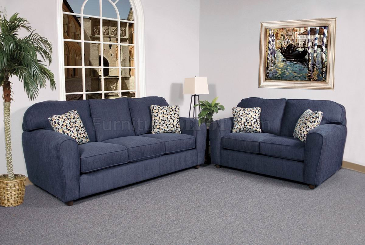 blue sofa white piping covers with separate cushion navy and loveseat outstanding set