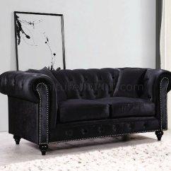 Black Velvet Chesterfield Sofa Bed Oak And Liquidators Fresno 662bl In Fabric W Optional