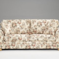 Baby Sofa Seater Denim Covers Floral Pattern Fabric Traditional & Loveseat Set