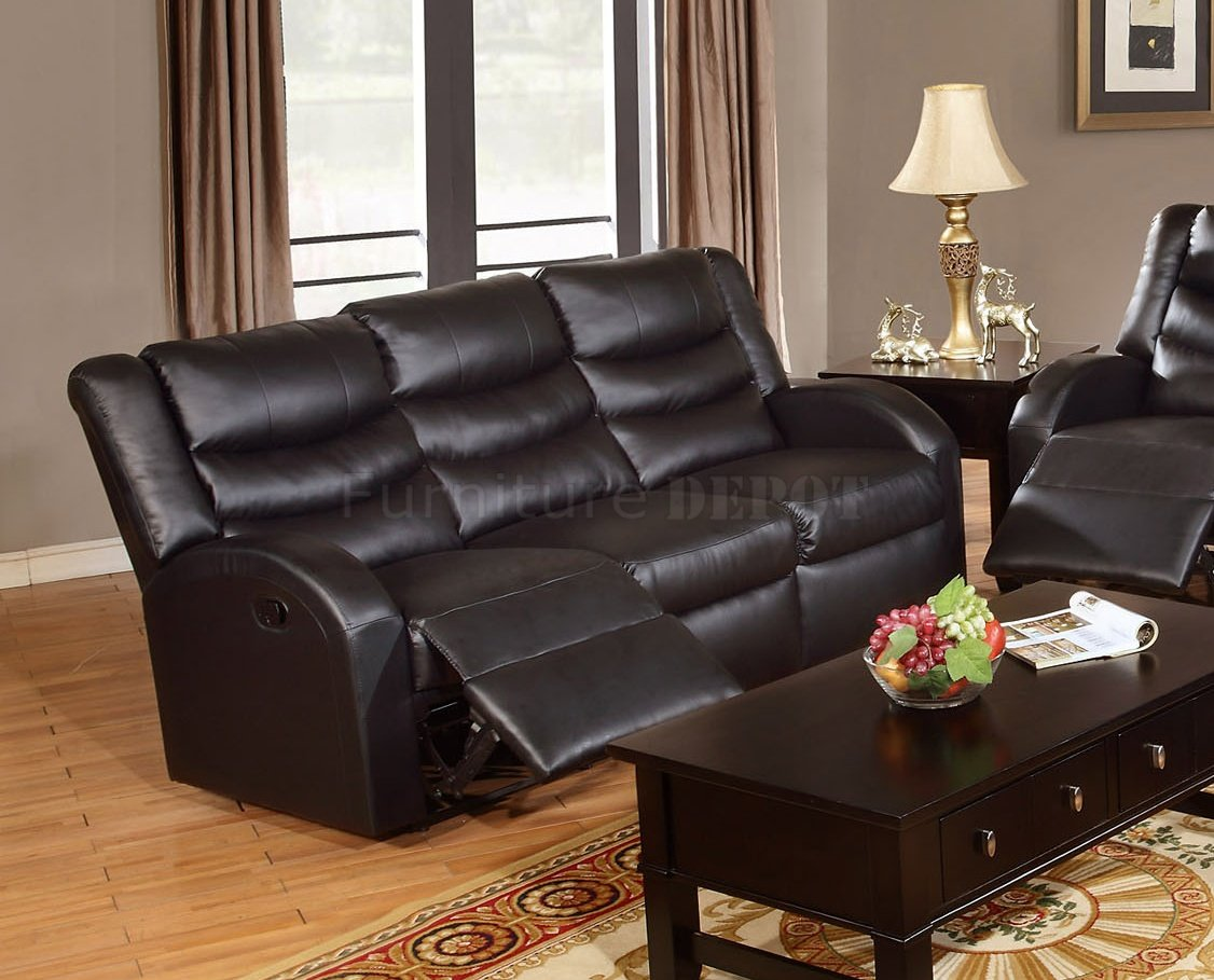 espresso bonded leather reclining sofa loveseat set dwr bay sleeper review f6655 motion by boss w options