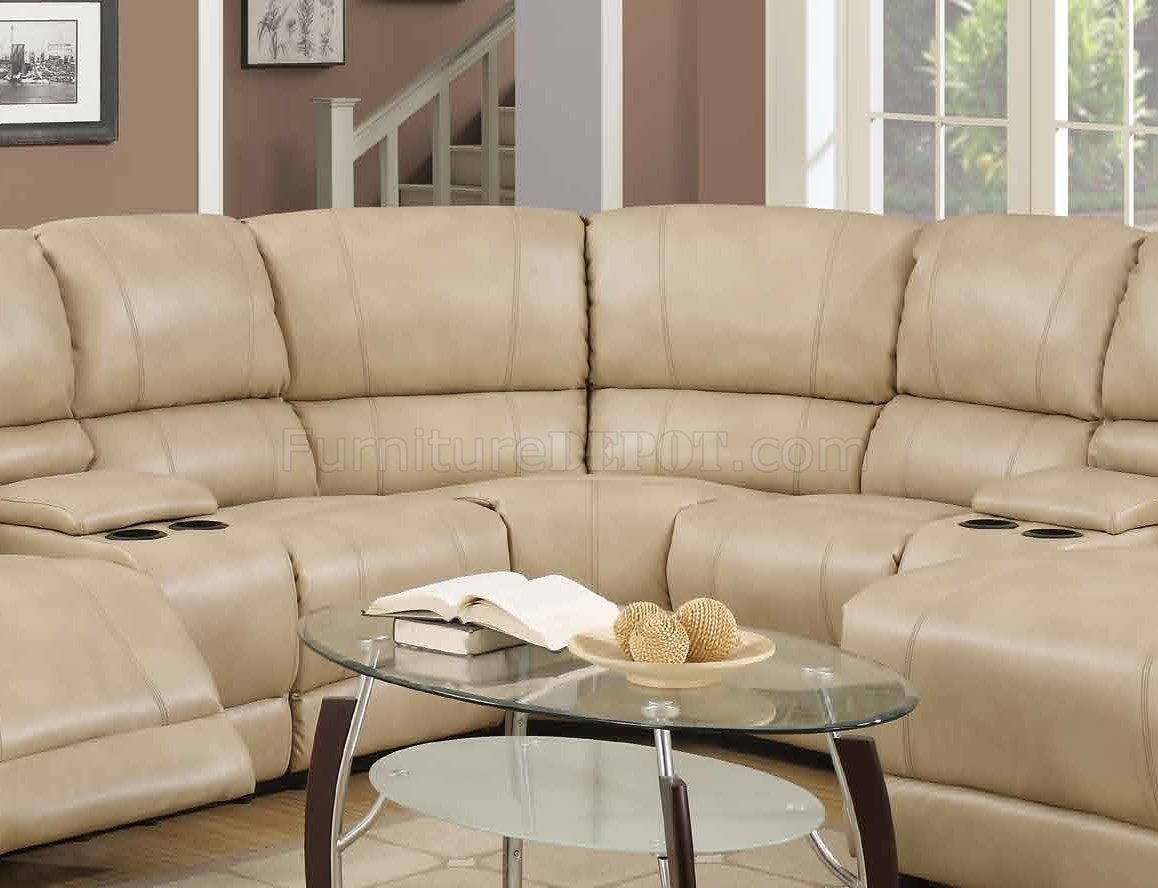 cream full leather chaise sectional sofa lazy boy reviews 8303 reclining in bonded w