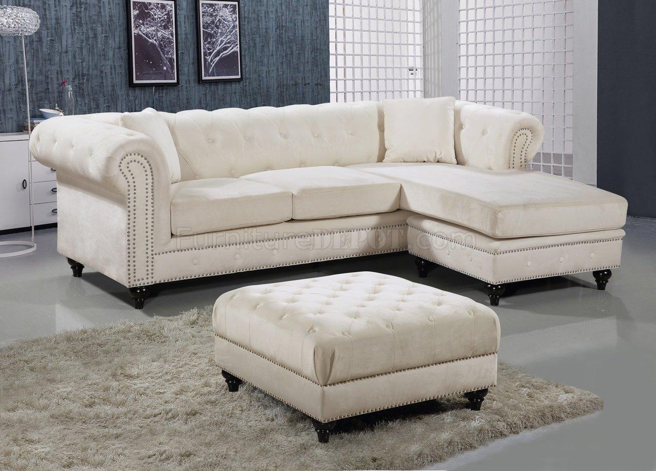 cream sectional sofa fabric linio mexico cama sabrina 667 in velvet by meridian