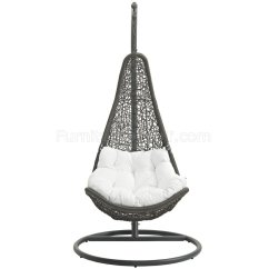 Swing Chair Grey Used Round Tables And Chairs For Sale Abate Outdoor Patio In Gray White By Modway