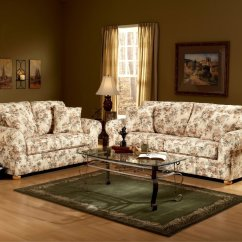 Couch And Chair Set Steel Floral Pattern Fabric Traditional Sofa Loveseat