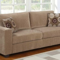 Light Brown Sofa Furniture Beds Designer Paramus 9738 Homelegance Corduroy W