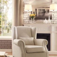 Bedroom Chair Adelaide Folding Lifetime Accent 1245f2s In Neutral Fabric By Homelegance
