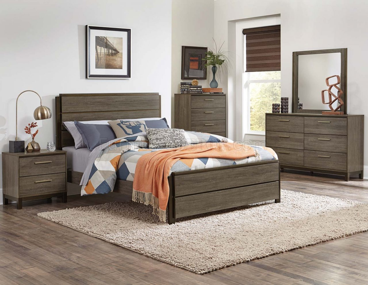 vestavia bedroom set 1936 in dark brown by homelegance w/options