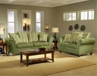 Light Forest Green Fabric Modern Living Room Sofa