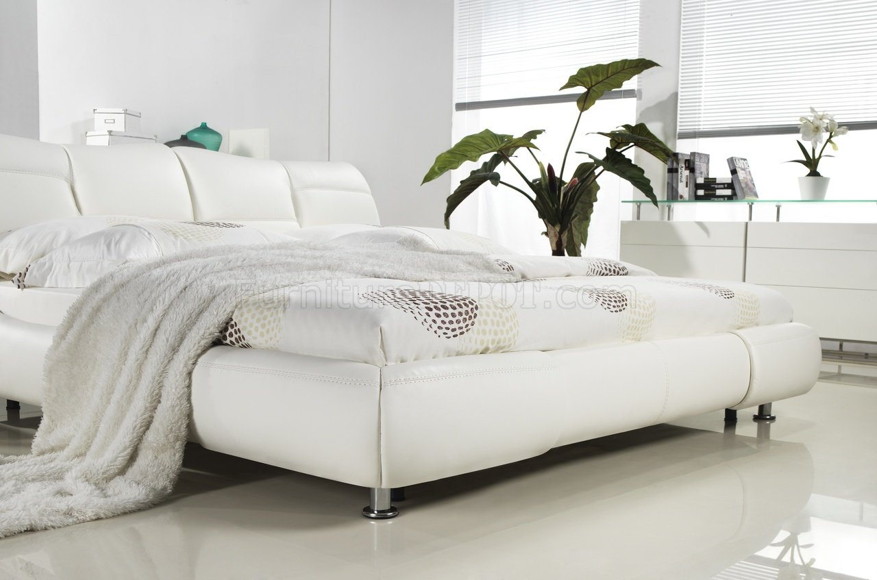 bianca futon sofa bed review sectional sofas cheap uk mirage in white half leather by casabianca