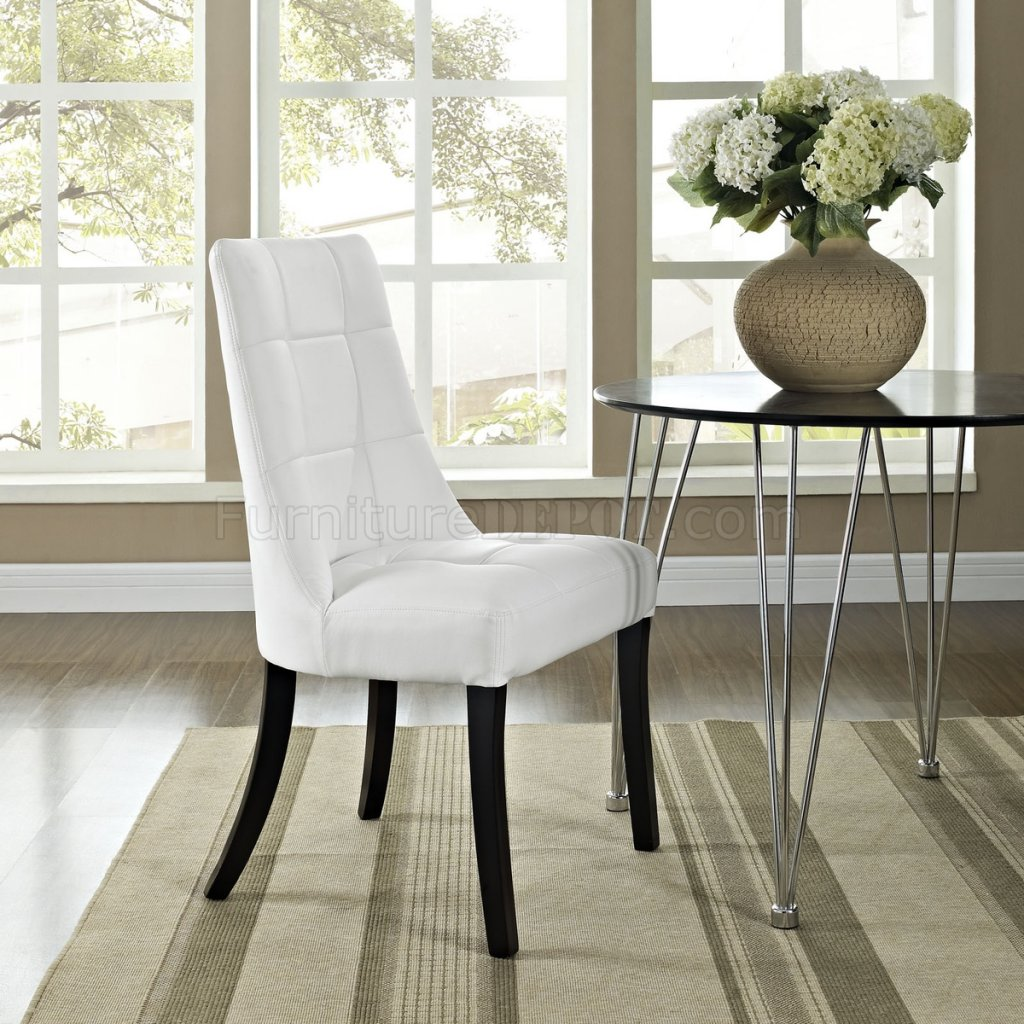 white dining chairs set of 4 table top high chair noblesse black or by modway