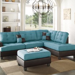Teal Colored Leather Sofas Violino Sofa F6859 Sectional 3pc In Fabric By Boss