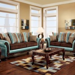 Retro Living Room Furniture Sets Ideas For Decorating A With Fireplace Mulligan Sofa Sm7610 Teal Leatherette & Brown Fabric W/options