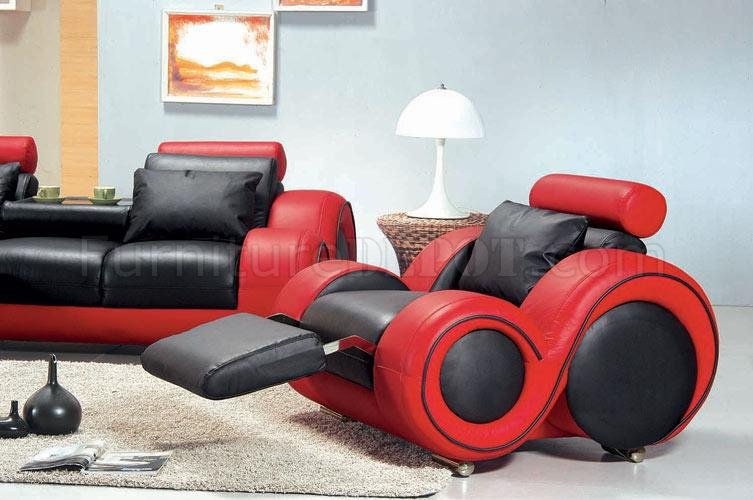 red and black living room sets orange ideas two tone leather 3pc modern set