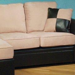 Cream Colored Microfiber Sofa Material Two Tone And Pu Modern Reversible W