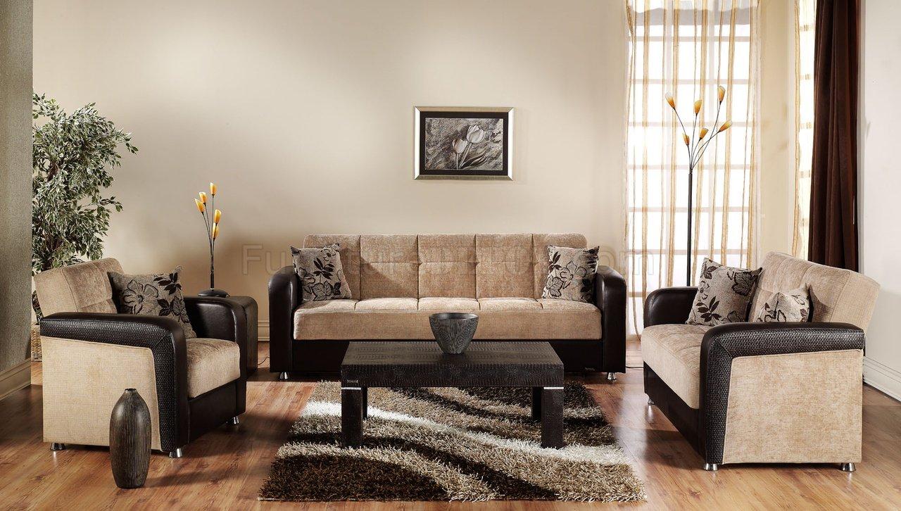 VISION Benja Sleeper Sofa In Light Brown By Istikbal