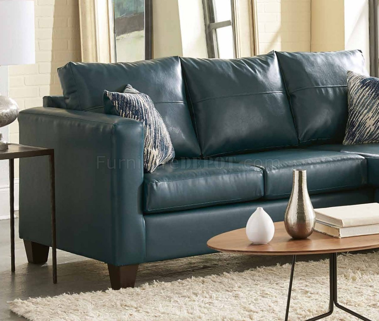 teal colored leather sofas chesterfield sofa sets 3007 sectional in bicast