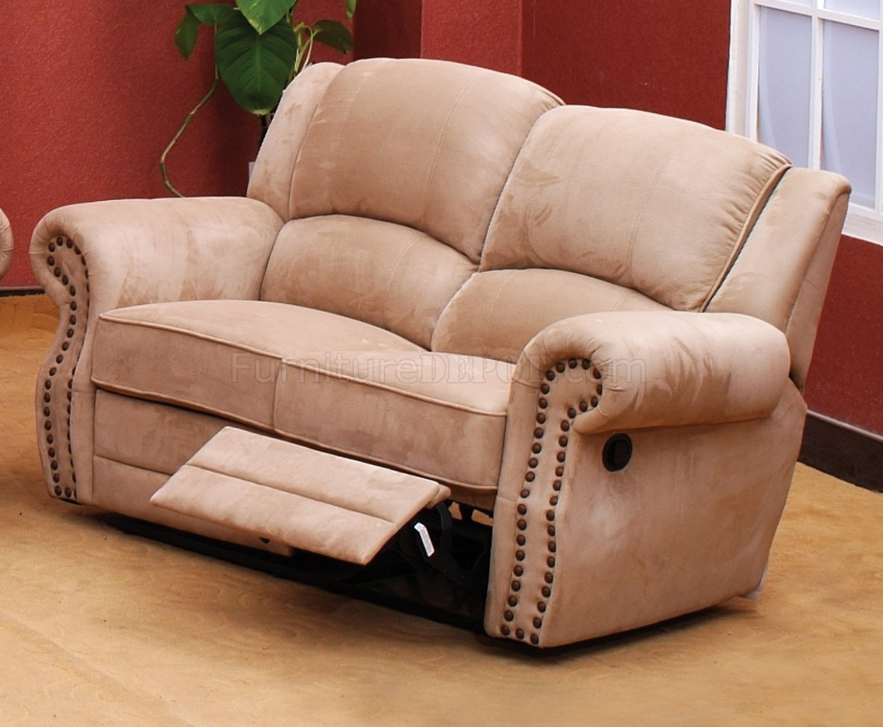 suede sofa fabric antique victorian sofas beige traditional reclining w optional items