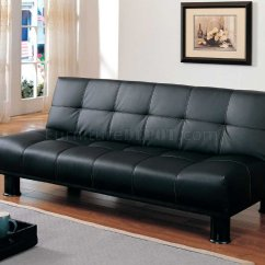 Black Vinyl Futon Sofa Next Leather Sofas And Chairs 4791pu Elegant Bed Convertible In By