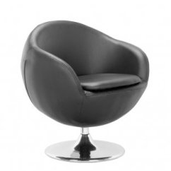 Revolving Chair Assembly Rent A Black, White Or Espresso Leatherette Contemporary Swivel