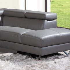 Grey Leather Sofas And Chairs Sesame Street Flip Open Sofa Canada 6201 Amalia Sectional In By At Home Usa