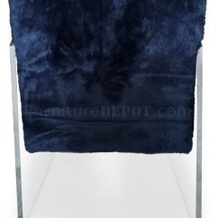 Navy Blue Leather Club Chair Ergonomic Oe15 Ella Accent 528 In Faux Fur By Meridian