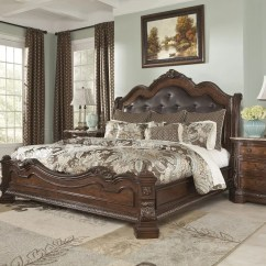 Discontinued Ashley Sofa Tables Table Behind Against Wall Ledelle Bedroom B705 In Brown Finish By Furniture