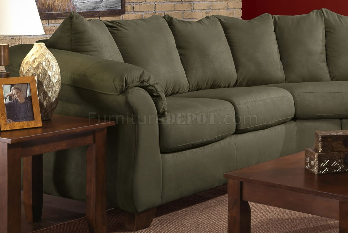 office depot chair lazyboy chairs olive microfiber modern sectional sofa w/optional items