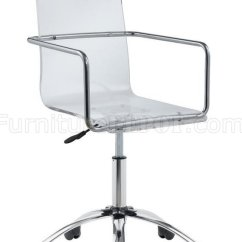 Clear Acrylic Swivel Office Chair Kirklands Dining Chairs Caraway 801436 W/clear Seat By Coaster