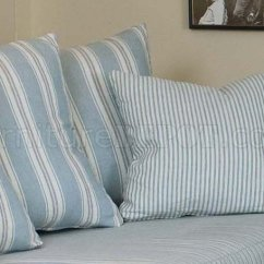 Blue And White Striped Chair Rocking Pads Cushions Fabric Classic Sofa Oversize
