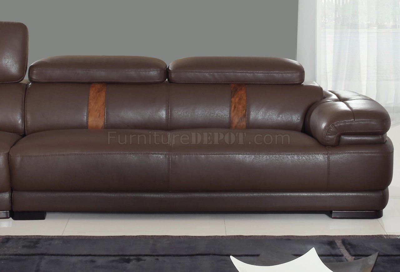 leatherette sofa rental brown modern sectional w optional chair