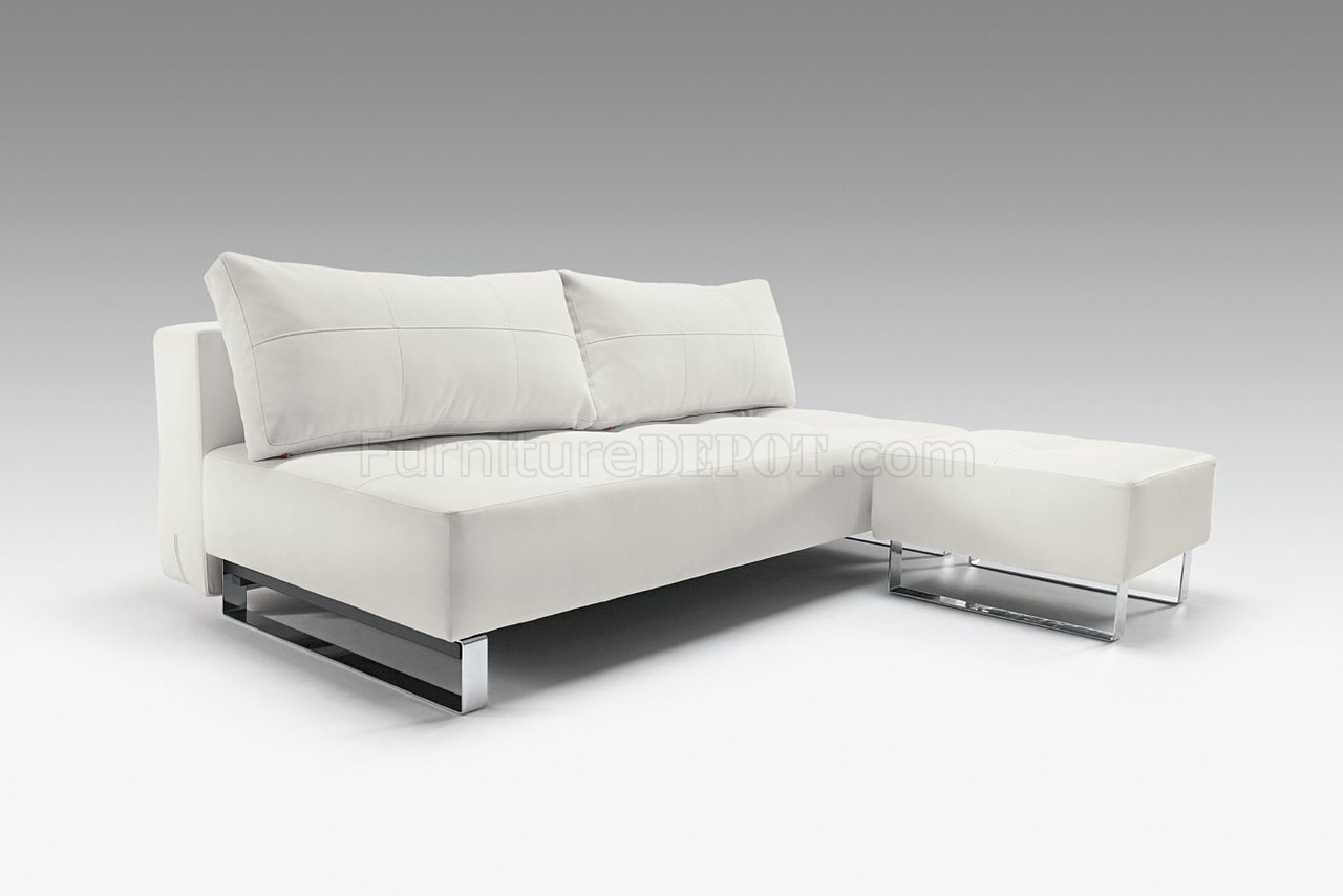 sofa bed lounger cheap next day delivery white leatherette contemporary from