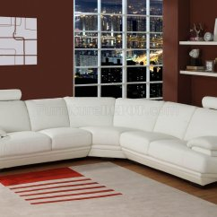 Modern Sofa Colors Ashley Walnut All Leather White Color Bonded Upholstery Sectional