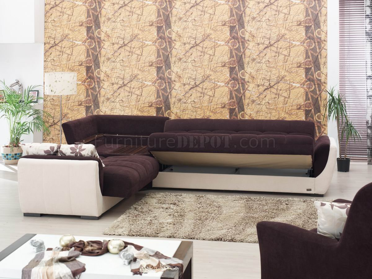 cream sectional sofa fabric coaster fine furniture tan microfiber sleeper vinyl and dark brown modern w