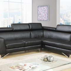 Leatherette Sofa Durability Chenille Fabric With Queen Sleeper 4020 Sectional In Black