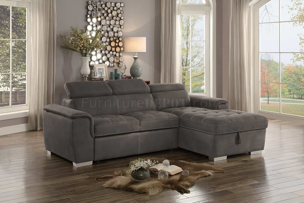 Ferriday Sectional Sofa 8228TP in Taupe Fabric by Homelegance