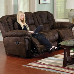 Faux Leather Reclining Sofa Set Sectional Sofas In Las Vegas Nv Chocolate Contour And Loveseat