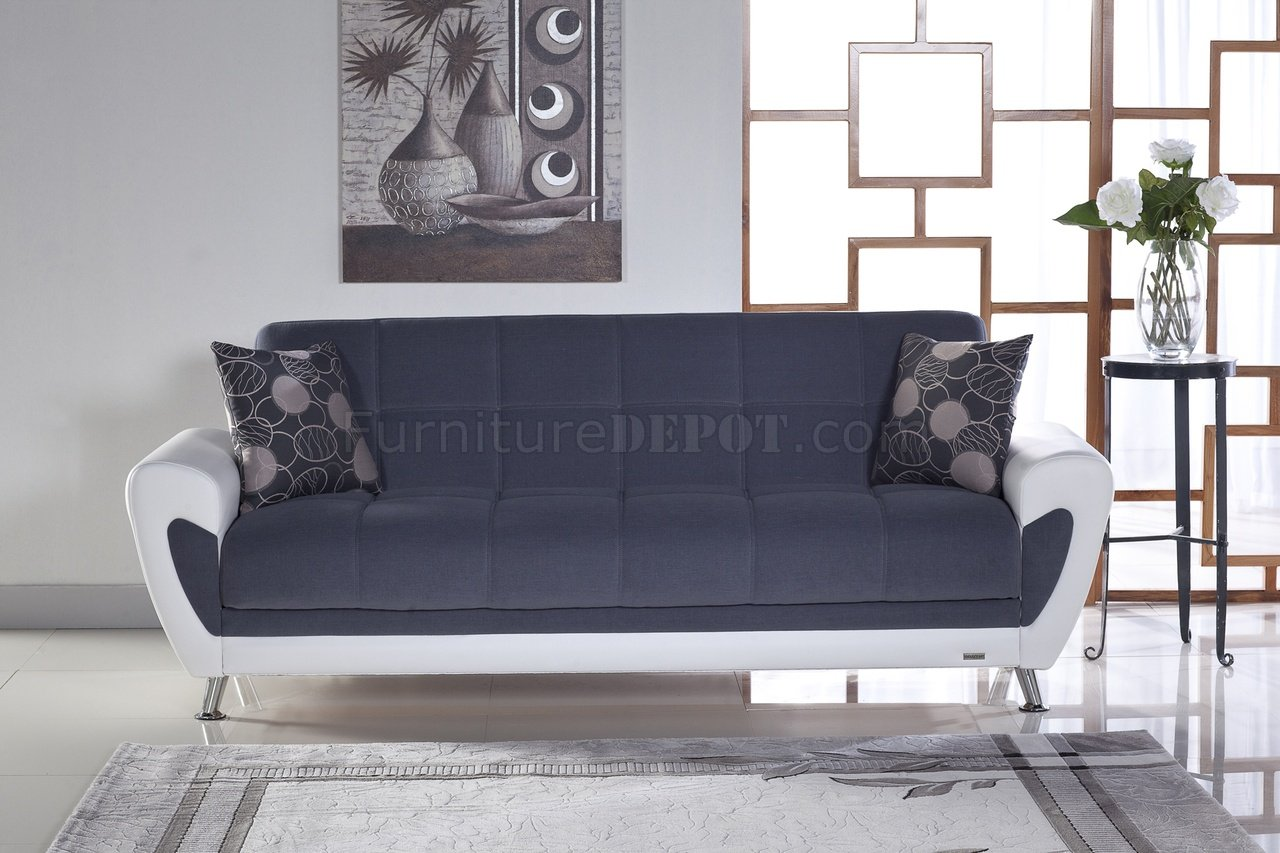 alicia two tone modern sofa and loveseat set kivik bed slipcover duru cozy gray sunset fabric